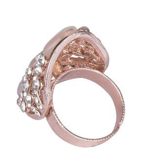 Diva Walk gold stone studded ring-00150