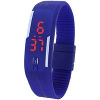 Crude Smart Digital Unisex Band Watch-rg382 With Adjustable PU Strap
