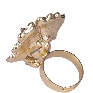 Diva Walk gold stone studded ring-00166