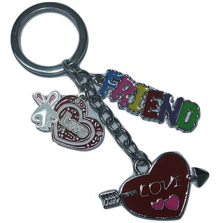 FRIENDS  LOVE METAL COLLECTION KEYCHAIN/KEYRINGS  FOR BIKE/CAR/GIFT