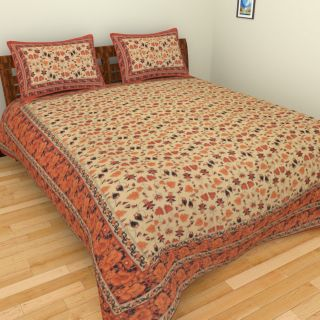 Jaipuri Block Print Cotton Bedsheet Double