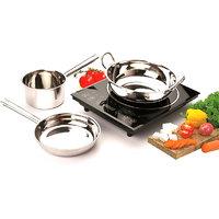 Kripa Steel Philco Induction Base Cookware Set Mirror Finish