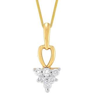Shuddhi 18K Yellow Gold Diamond Pendant