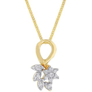 Nirvana 18K Yellow Gold Diamond Pendant