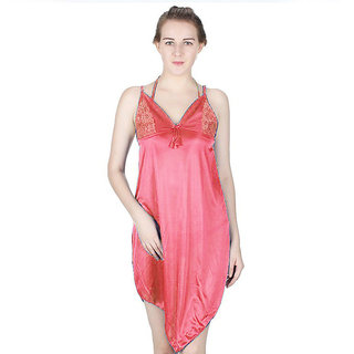 Vloria Satin Women Nighties-Light Peach