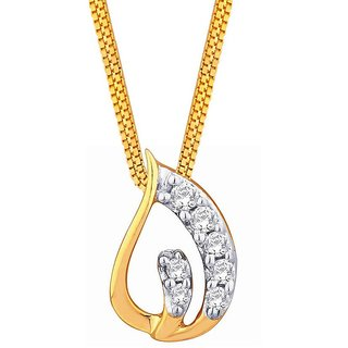 Asmi 18K Yellow Gold Diamond Pendant