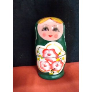 A Handcrafted well furnished matryoshka dolls family.