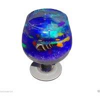 Atorakushon Decorative Wine Gel Glass Designer Led Multi Color Light Changing Candle Diwali