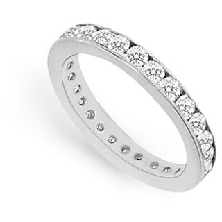 Lovebrightjewelry 0.75 Ct 14K White Gold & Diamond Eternity Band