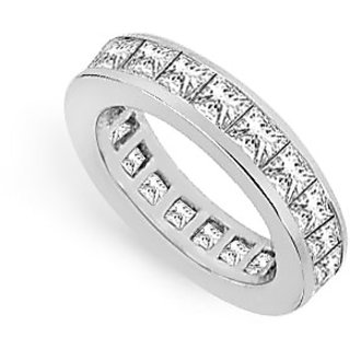 Lovebrightjewelry Three & Half Carat 14K White Gold & Diamond Eternity Band