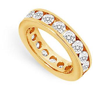 Lovebrightjewelry Voguish Two & Half Carat 14K Yellow Gold & Diamond Eternity Band