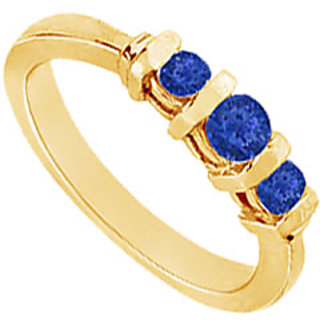 Lovebrightjewelry 14K Yellow Gold Stylish Sapphire Ring-1.00 Ct
