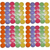 Tea Light Candle  (Multicolor, Pack Of 100)