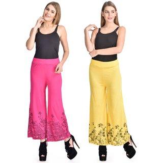 StarShop20 Pink Yellow Solid Viscose Combo Kurtas  Kurtis