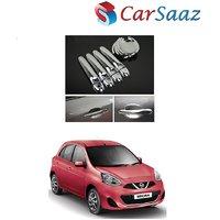 Carsaaz Door Catch/Handle Cover Chrome for Nissan Micra
