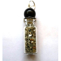 Diwali Special Sale! Golden Pyrite Bottle Shape Pendant Chakra Healing Gemstone Crystal Jewelry