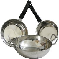 Combo Of Stainless Steel 3 Pcs Induction Compatible Cookware