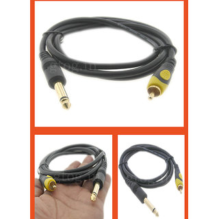 6.3mm Mono X1 Rca/m Plug Cable 1.5m Audio Cable