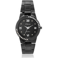 Oleva Women Fashion Black Dial Silver Metal Analog Watch OSW-30 BLACK