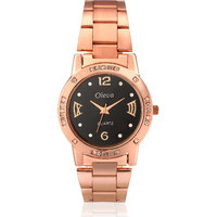 Oleva Women Fashion Black Dial Silver Metal Analog Watch OSW-31 Copper