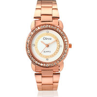 Oleva Women Fashion Black Dial Silver Metal Analog Watch OSW-32 COPPER