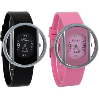 SanghoCombo of Two Kawa Circular Silver Case Watches