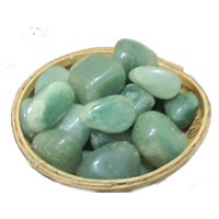 Green Aventurine Pebbles For Crystal Reiki Healing Stone With Basket - Fengshui