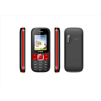 VOX New V3100 Triple Sim Mobile Phone (Red  Black)