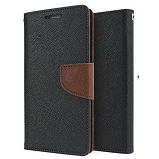SCHOFIC Mercury Goospery Fancy Wallet Diary with Stand View Faux Leather Flip Cover for Samsung Galaxy Note 3 Neo N7505 (Brown)