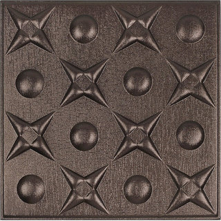 Silfra 3D Leather Panel - 3D leather Panels / Tiles for Walls  Ceilings (Qty - 4) - Model SD08006