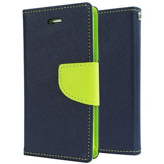 SCHOFIC Mercury Goospery Fancy Wallet Diary with Stand View Faux Leather Flip Cover for Samsung Galaxy Tab 2 10.1 P5100 (Blue  Green)