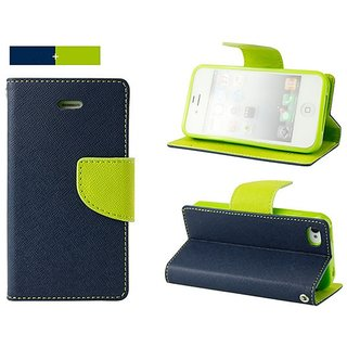 MERCURY Wallet Flip case Cover for Samsung Galaxy S6 edge  (BLUE)