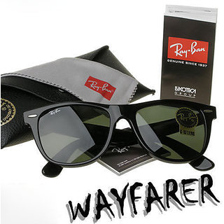Unisex Wayfarer RB 4105  Sunglasses With Black Frame  100% UV Protection