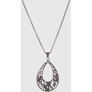 The99Jewel Silver Plated Statement Chain Pendant - AAB0470
