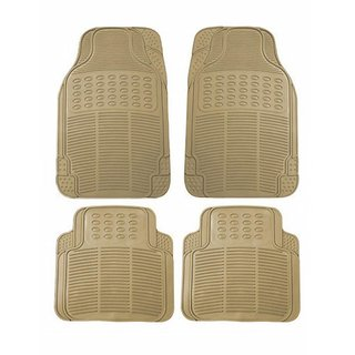 Varshine Rubber Foot Mats Beige For Mahindra NuroSport