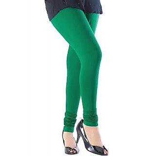 Green Women Cotton Leggings
