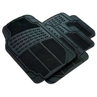 Varshine Rubber Foot Mats Black For Tata Indigo ECS