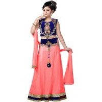 Aarika Girls Floral Print Premium Mastani Lehenga Set For Wedding