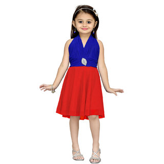 Mid Age Girls Party Wear Premium Net Fabric Frock