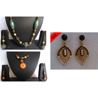 Combo Necklace Set With Free Earrings
