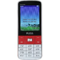 Kara Master / 2MP Camera / FM / Bluetooth / MP3 Player (Silver and Red) - (3 months seller warranty)