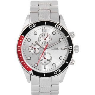 CURREN Men's Analog Silver Round Dial Wrist Watch with Metal Strap CURREN.8028SILVERSILVERDAIL