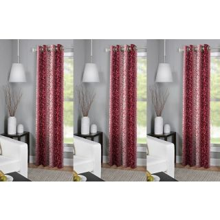 R Trendz  Printed door Curtain Set Of 3 (4x7)