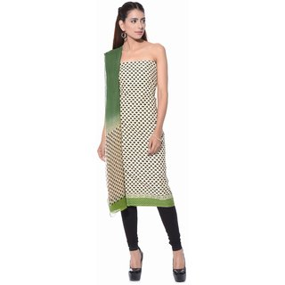 Pure Cotton With Pure Chiffon Dupatta Hand Block Printed Unstitched Suit Material