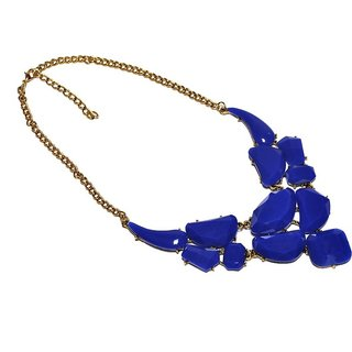 Jewel Touch Rock n sapphire Alloy, Acrylic Necklace