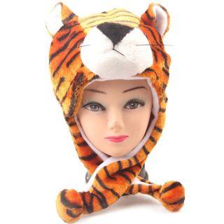 NGTONLINE Woolen Animal Cap For Men (Tiger)