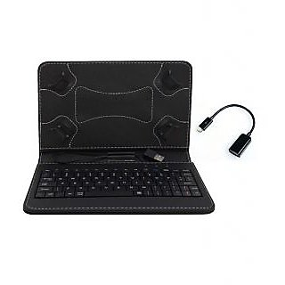 Krishty Enterprises 7Keyboard for Adcom 741C 3D Tablet- Black with OTG Cable