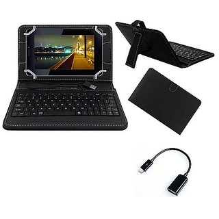 Krishty Enterprises 7inch Keyboard for DatawindUbiSlate 7C+ Black with OTG Cable