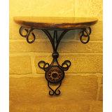 Fancy Wood Wrought Iron Home Office Elegant Wall Decor Bracket Holder Gift Item