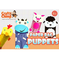 Crafty Chimp Paper Bag Puppets - Farm Animals